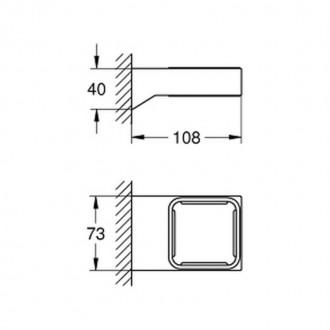 Держатель для аксессуаров Grohe Selection Cube 40865000 цена