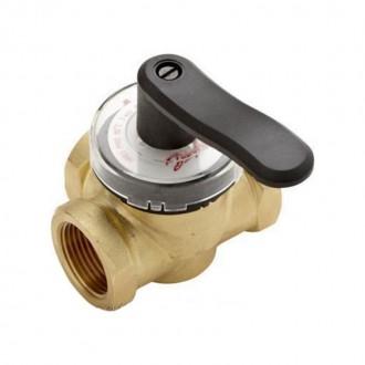 Клапан латунный трехходовой поворотный Danfoss HFE3 PN10 3/4 цена