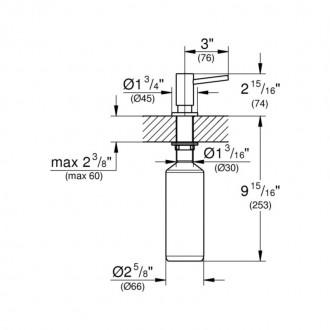 Дозатор для моющего средства  Grohe  Cosmopolitan  40535000 цена
