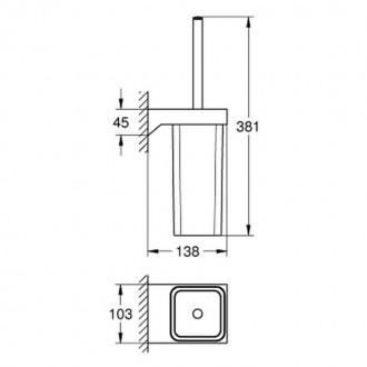 Ершик для унитаза Grohe Selection Cube 40857000 цена