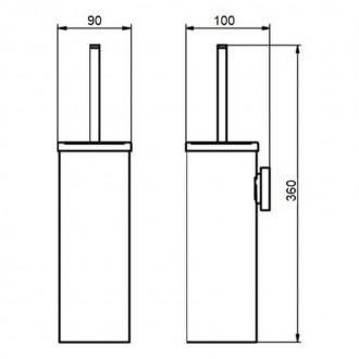 Ершик для унитаза Q-tap Liberty ANT 1150 цена