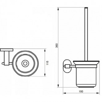 Ершик для унитаза Q-tap Liberty CRM 1157 цена
