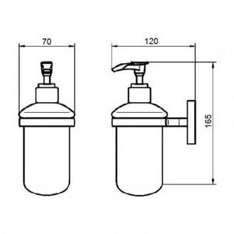 Дозатор для жидкого мыла Q-tap Liberty ORO 1152 цена