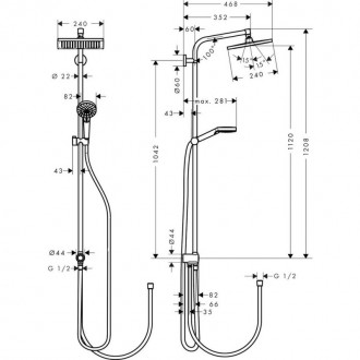 Душевая система Hansgrohe Crometta E 240 27289000 цена