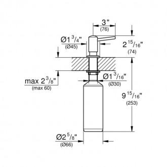 Дозатор для моющего средства  Grohe  Contemporary 40536DC0 цена