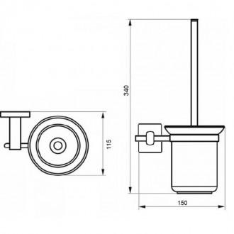 Ершик для унитаза GF (BLB)S-2610 цена