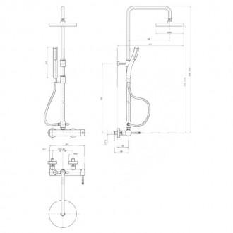 Душевая система Bianchi Mody ESDMDY2025CRM цена