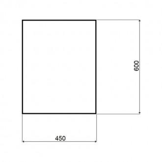 Зеркало Potato P712 квадратное без полки 600х450 мм цена