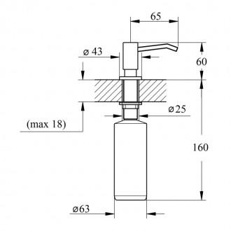 Дозатор для моющего средства Imperial D15 цена