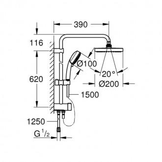 Душевая система Grohe Tempesta Cosmopolitan System 200 27394002 цена