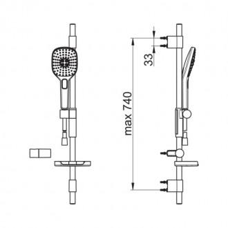 Душевой гарнитур OrasHydractiva433 цена