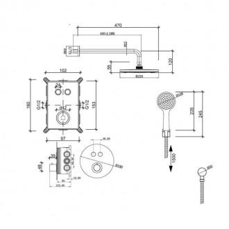 Душевая система скрытого монтажа Q-tap Inspai-Therm CRM T20250102 цена
