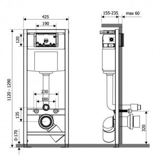 Инсталяция Q-tap Nest M425-M06CRM с панелью смыва Chrome цена