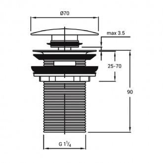 Донный клапан Q-tap F008-1 WHI Pop-up с переливом цена