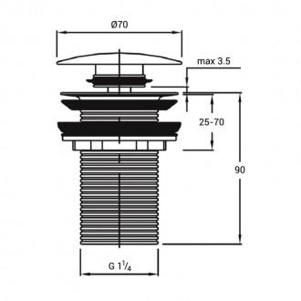 Донный клапан Q-tap F009 BLA Pop-up без перелива цена