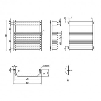 Водяной полотенцесушитель Q-tap Glory (WHI) P10 550x500 HY цена
