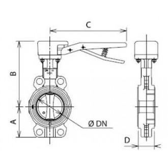 Заслонка Danfoss дисковая поворотная с рычагом VFY-WH цена