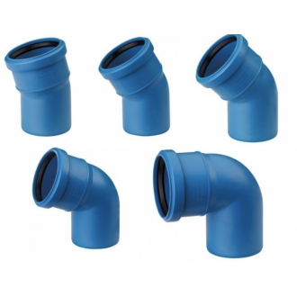Колено для бесшумной канализации Poliplast Ду 110, 15° цена