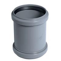 Муфта ПВХ проходная 110 мм для наружной канализации