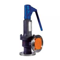 Клапан предохранительный пружинный угловой полноподъемный фланцевый стальной, Ду 100/125 / PN16